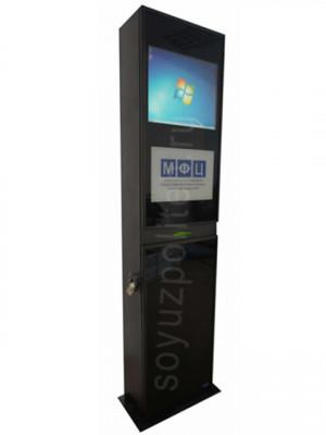 СПТ-Complex – это интерактивный терминал с принтером, сканером штрих-кодов, бесконтактным считывателем