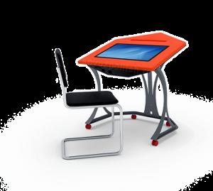 Интерактивный  ученический стол Спт - School 2 - компонент системы интерактивный класс