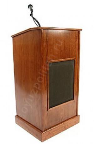 Мультимедийная трибуна Спт-Сигрма выполнена из натурального дерева и оснащена всем необходимым оборудованием