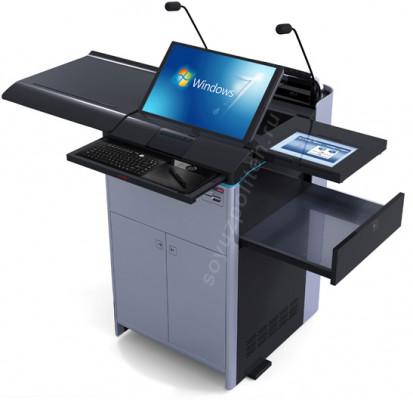 СПТ-Гефест – это  интерактивная трибуна с выдвижными элементами для дополнительного оборудования