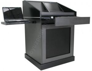 СПТ-Каппа – это мультимедийная трибуна оснащенная клавиатурой, мышкой и выдвижной подставкой для ноутбука.