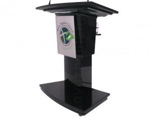 СПТ-Дафур – это мультимедийная трибуна в современном стиле с подсветкой и подстаканником