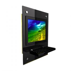 Настенный инфокиоск Спт -Wall с антивандальной клавиатурой