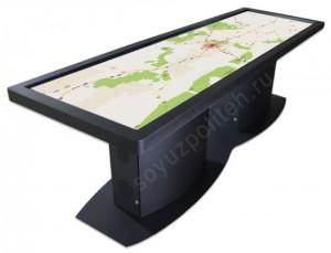 Мультимедийный сенсорный стол Спт - Sol c большим экраном  в антивандальном исполнении